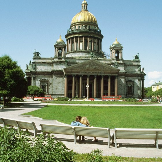 St. Isaac's Cathedral is one of St. Peterburg's most important churches.