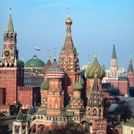 Russia's colorful Kremlin buildings and onion-domed cathedrals showcase a lively history.