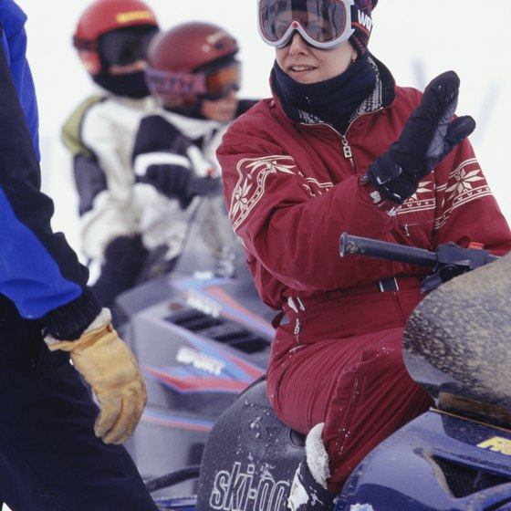 Snowmobiling is one of many activities available at Diamond Lake.