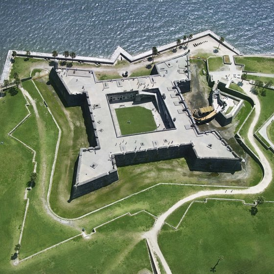 St. Augustine is home to the Castillo de San Marcos National Monument.