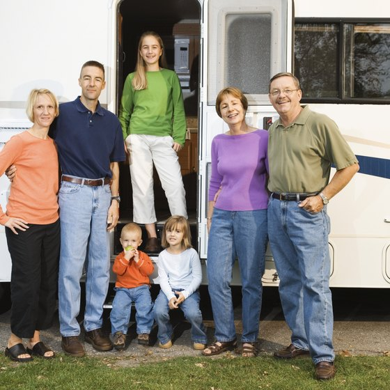 RV camping at Granger Lake can be fun for the whole family