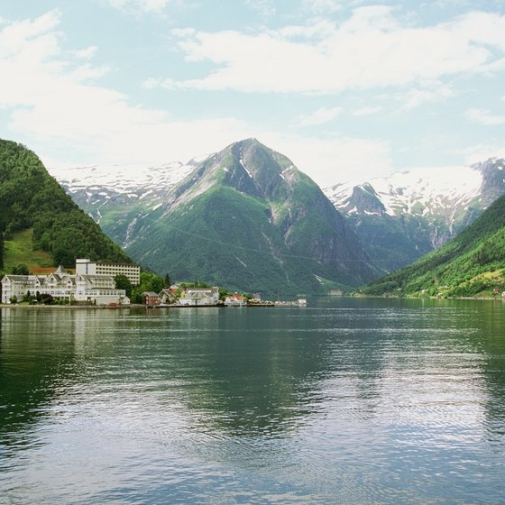 The ferry to Askvoll passes by Norway's famous Sognefjord.