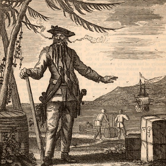 The pirate Blackbeard frequently sailed into port at Marcus Hook.