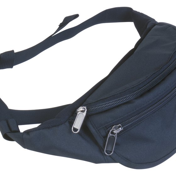 Fanny packs and money belts typically have an adjustable strap.