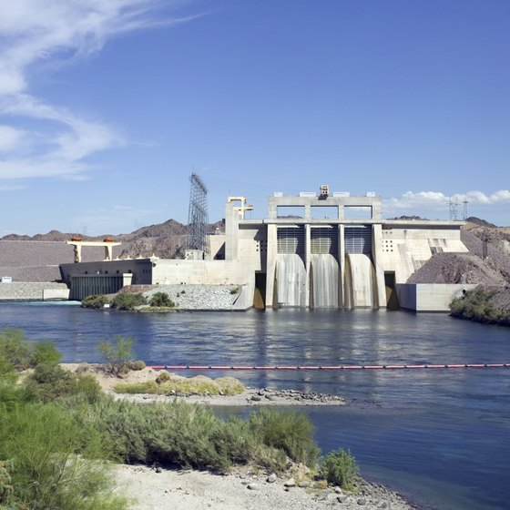Davis Dam is located on the Colorada River near Laughlin, Nevada.