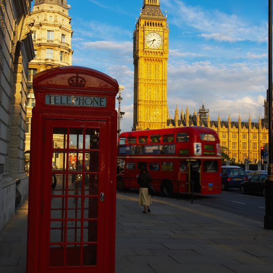 Many of London's sightseeing tours take place aboard a double-decker bus.