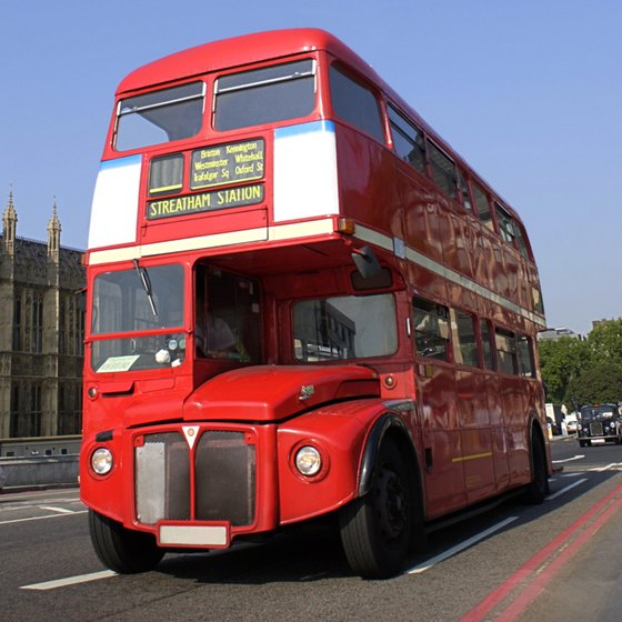 Doubler-decker buses are popular for transportation in London.