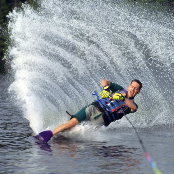 Waterskiing is a popular summertime activity in Tennessee.