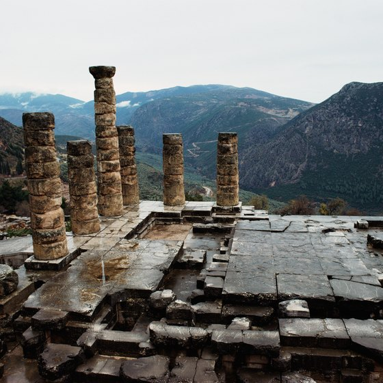 The nearest port to Delphi is not accessible to large cruise ships.