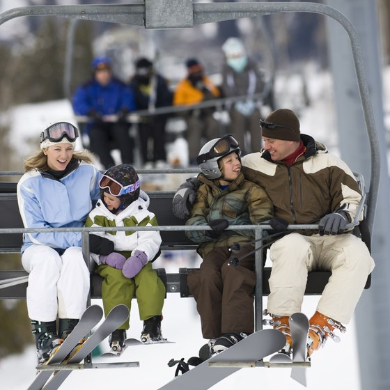 Family-friendly ski resorts offer activities for you and your kids to enjoy.