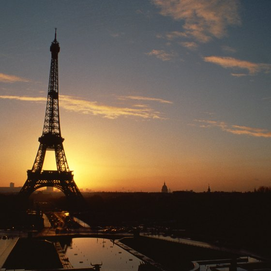 The Eiffel Tower is one of Paris' many romantic attractions.