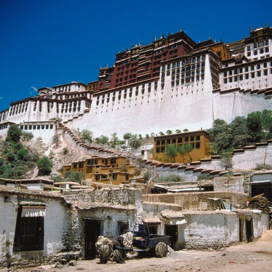 Lhasa, Tibet, is accessible via the Shangri-La Express train.