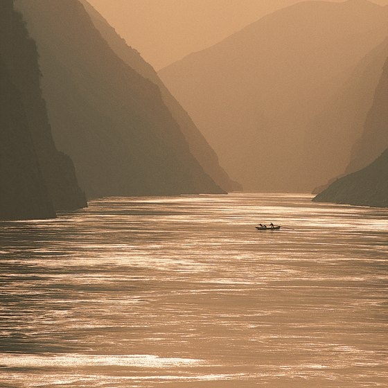 The Yangtze River hosts several endangered land and marine species.
