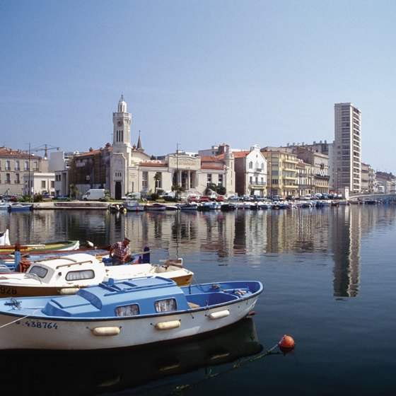 Sete is one of the Languedoc's principal beach destinations.