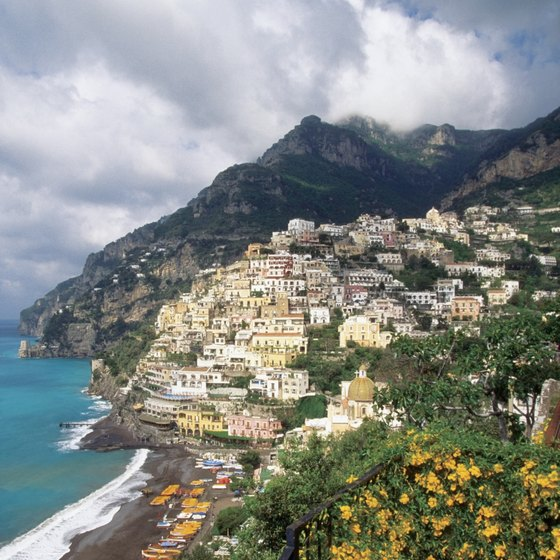 A drive from Positano to Siena starts along the Amalfi Coast.
