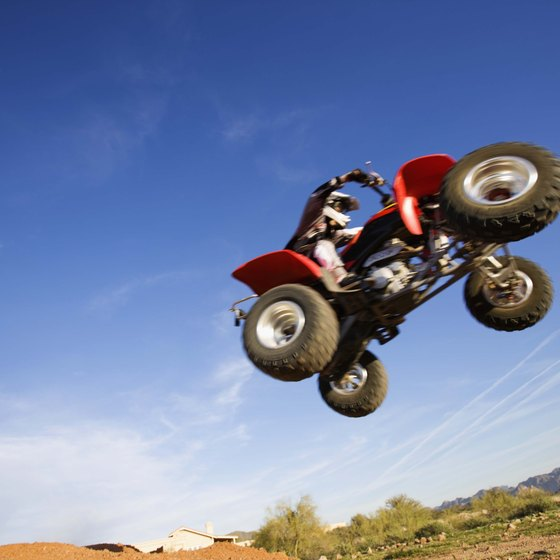 You'll find desert trails and play areas where you can ride your quad near Phoenix.