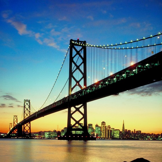 Hotels close to San Francisco's Bay Bridge offer a range of amenities for Bay Area visitors.