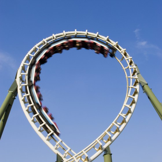 Thrill-seekers may enjoy riding roller coasters at one of Georgia's theme parks.