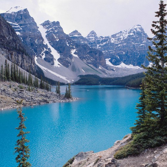 Moraine Lake is famous for its scenery.