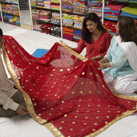 Thin, sheer sarees are popular for formal occasional in hot weather.