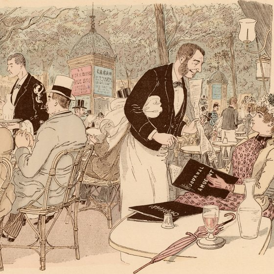 Waiters still don tuxedos in Parisian fine dining establishments, as they did hundreds of years ago.