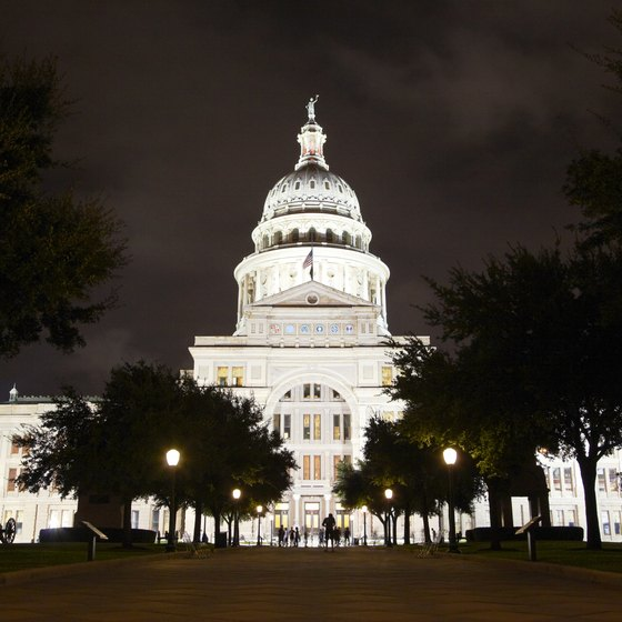 The Texas state capitol building is in Austin.