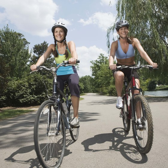 Bicyling is an ideal activity on Marquette's many paths.