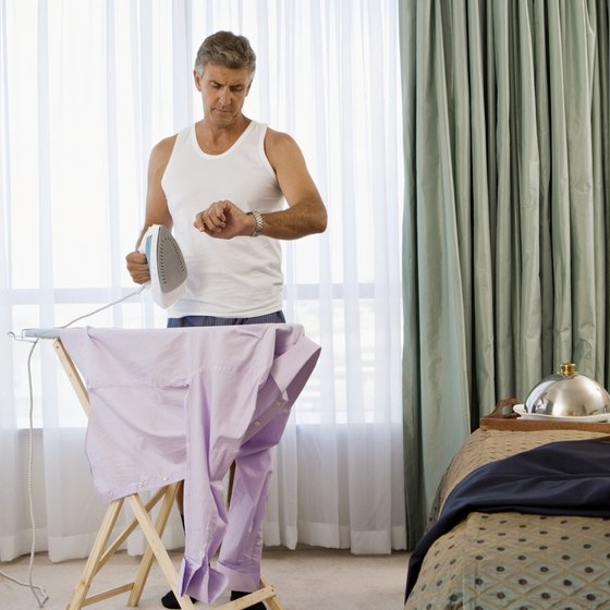 Ironing takes time that a business traveler does not likely have to spare.