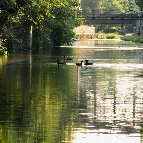 The C&O Canal begins in Georgetown.