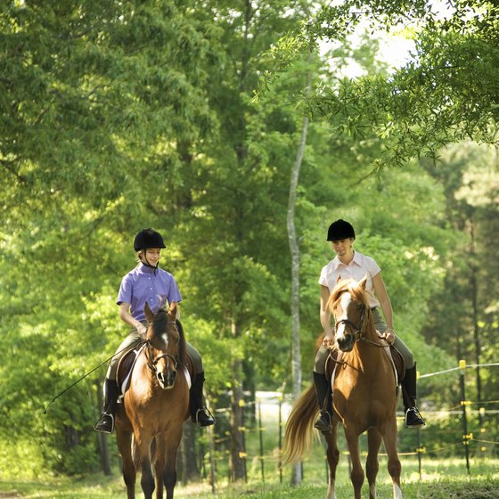 The Bastrop, Texas area features many horseback riding trails and facilities.