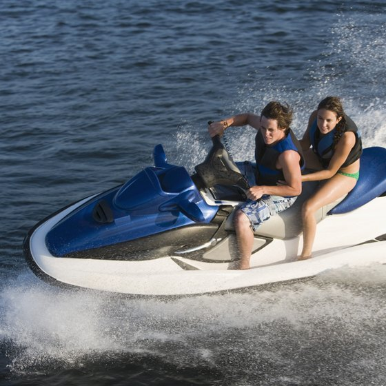 You can experience the natural beauty of Clearwater Beach's coastline on a personal watercraft tour.
