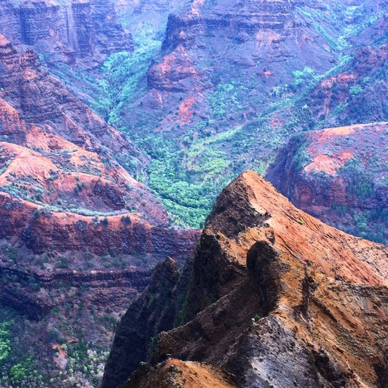 The Waimea Canyon is one of Kauai's most unusual geological features.