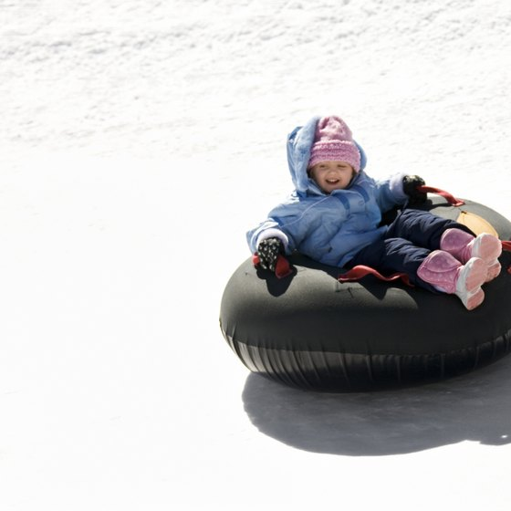 Tubing makes it easy to enjoy snow.