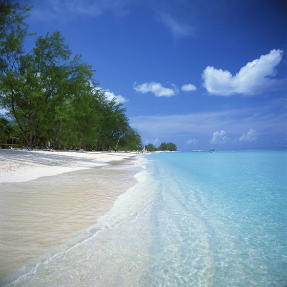 Pristine beaches are much of the Caymans' allure.