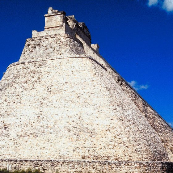 The Pyramid of the Magician towers at Uxmal.