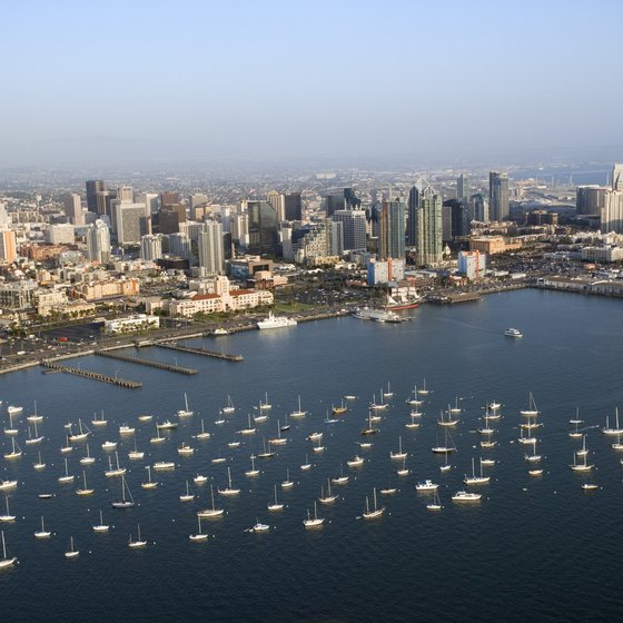 San Diego lies a short distance west of El Cajon.