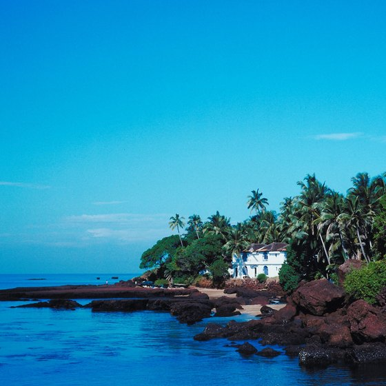 A rockier part of Goa's long, green shoreline
