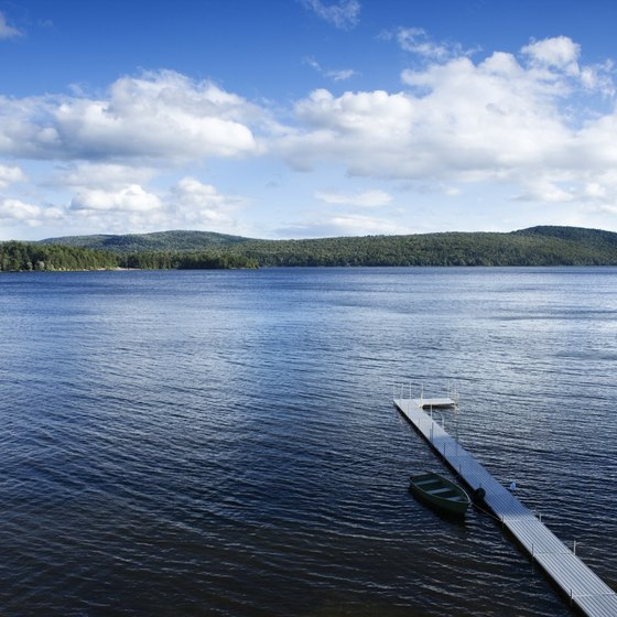 The Adirondacks have almost 700 ponds, rivers and lakes.