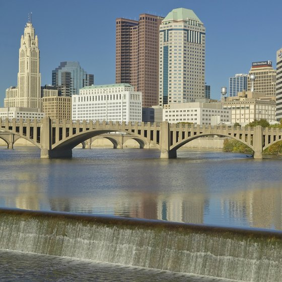People can go canoeing or kayaking on Columbus' rivers.
