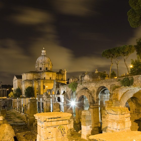 The Roman Forum was once the hub of the Roman Empire.