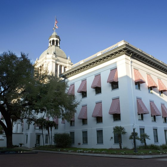Florida's state capitol building is in downtown Tallahassee.