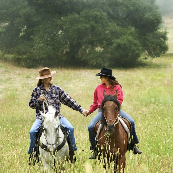 Take a romantic horseback ride in central Texas.