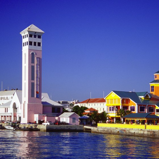 Nassau, the capital amd largest city of the Bahamas, is where most tourists from the U.S. fly into.