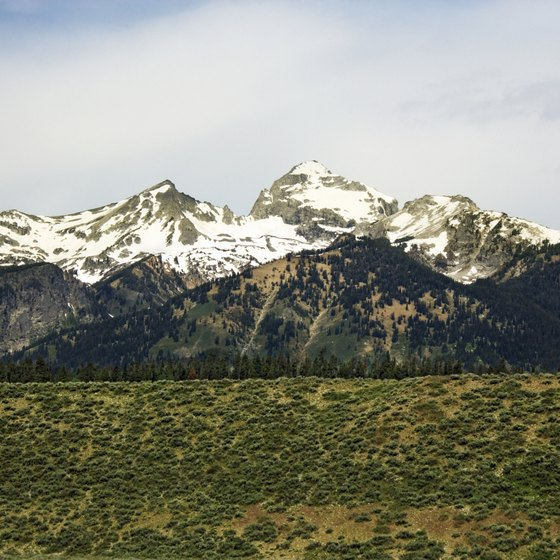 The Teton mountain range forms the western boundary of Jackson Hole.