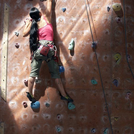 Even experienced climbers will find challenges at indoor rock climbing gyms.