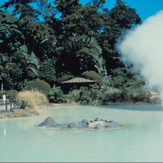 Kyushu's numerous hot springs are a major draw for tourists.