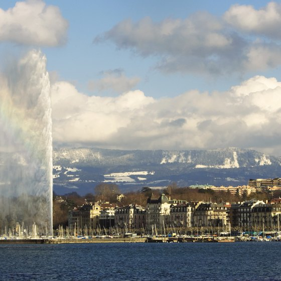 In Geneva, see the Jet d'Eau.