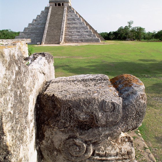 A popular tourist stop, the Mayan ruins of Chichen Itza are in the Yucatan Peninsula.