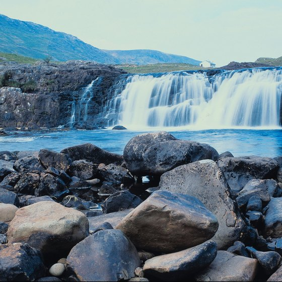 Experience the wonder of an Irish waterfall.