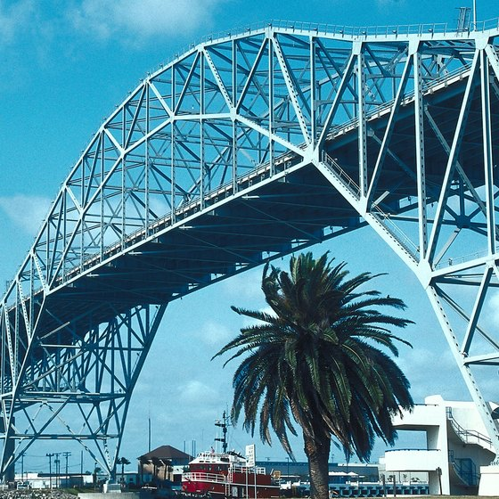The Harbor Bridge in Corpus Christi.